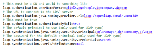 Alfresco LDAP Authentication using email id