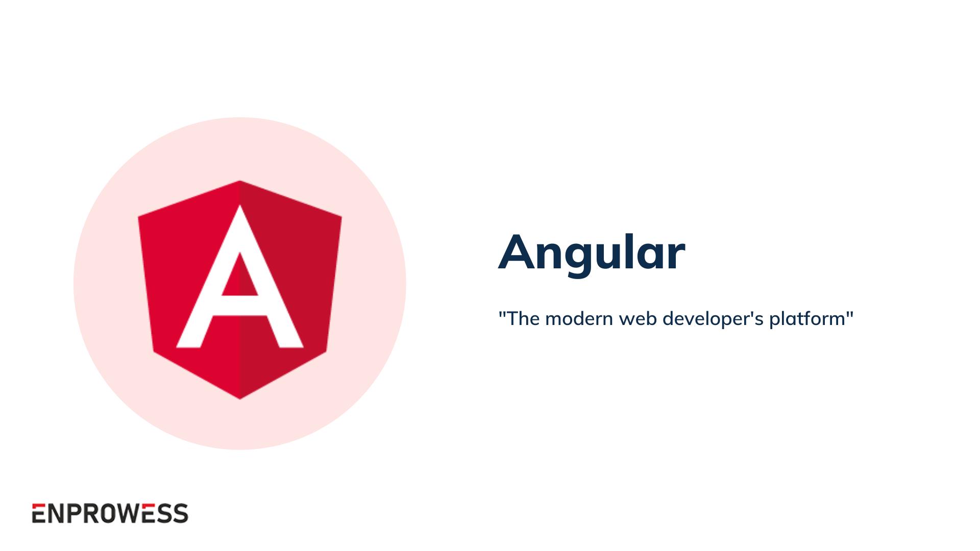 Top Frontend Frameworks - Angular