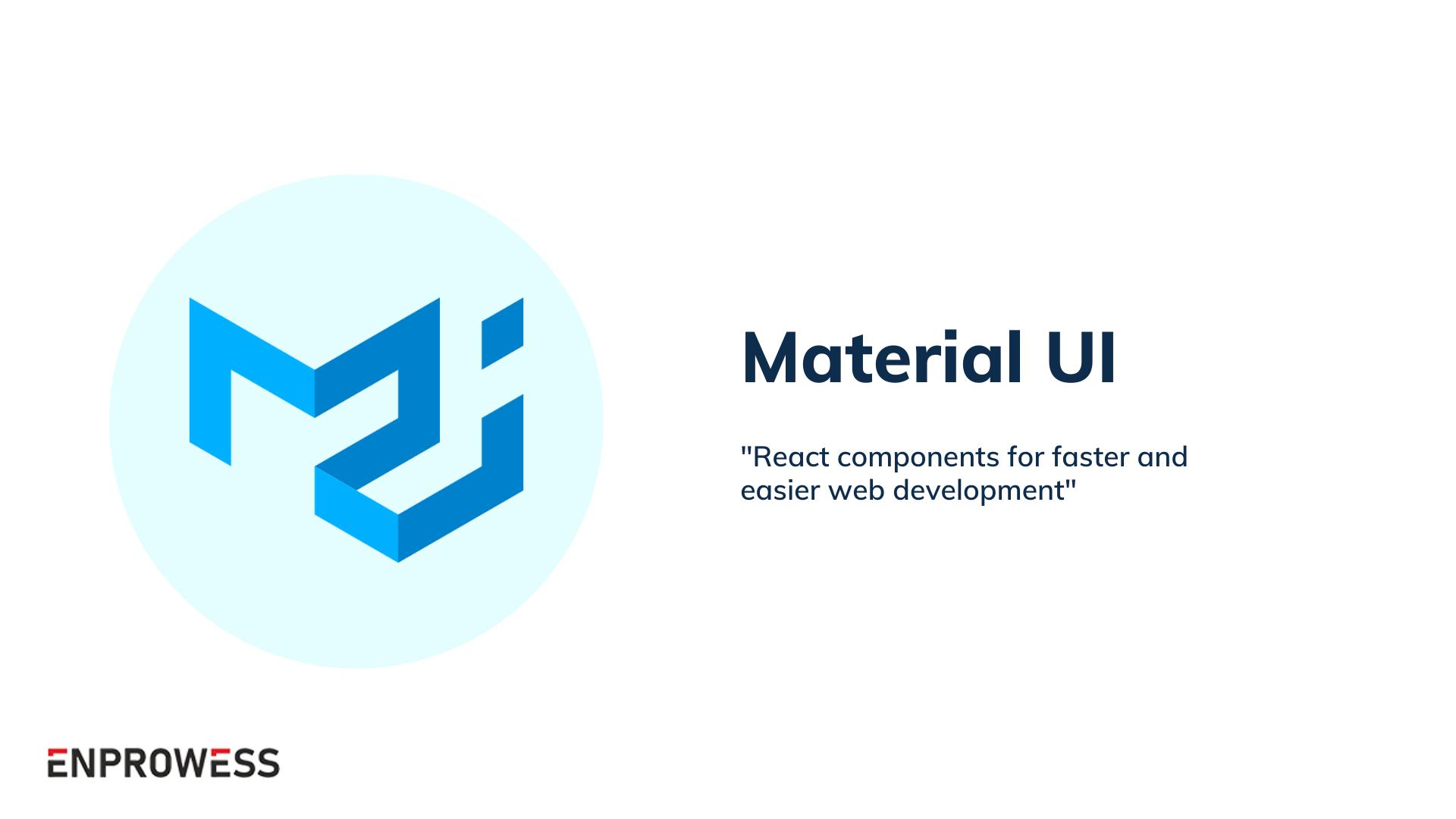 Top Frontend Frameworks - MaterialUI