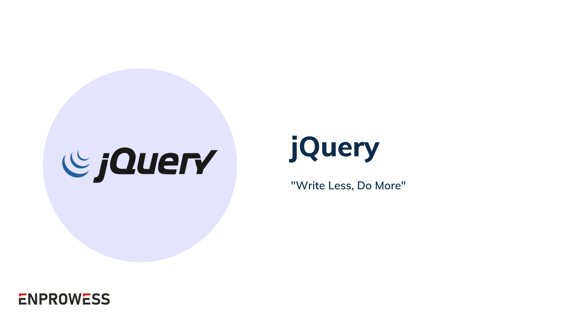 Top Frontend Frameworks - jQuery