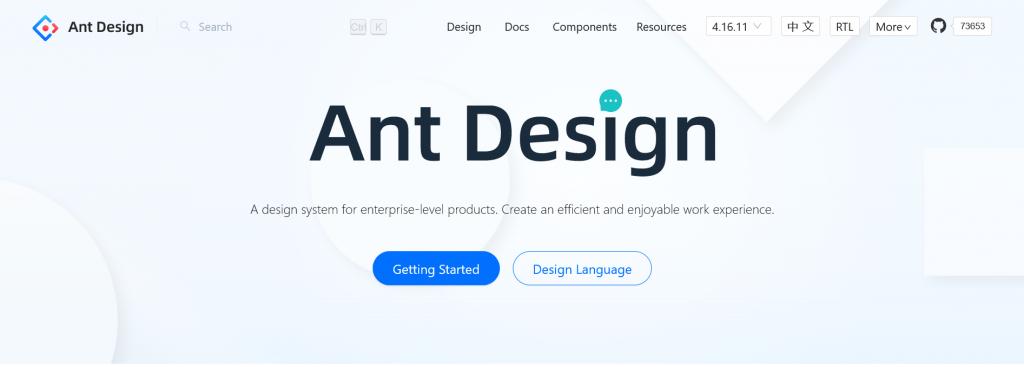 Ant Design - The world's second most popular React UI framework
