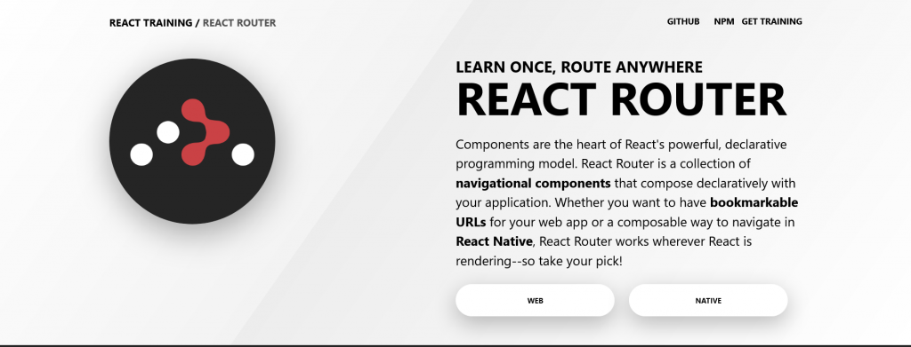 React Router Declarative Routing for React